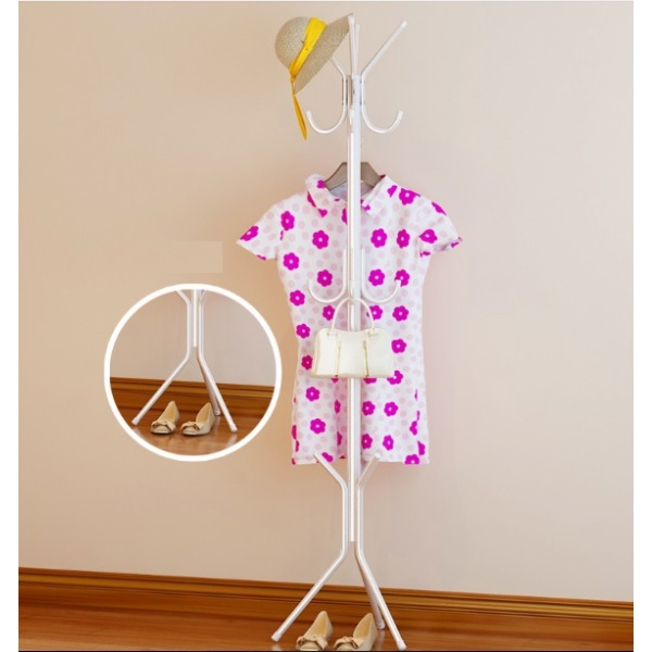 Clothes Hanger Coat Stand (White)