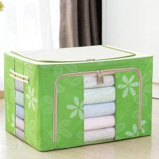 Clothing material, Oxford cloth steel frame storage box, folding storage box, washable large quilt bag - intl