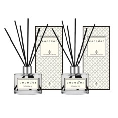 Cocodor Aroma Reed Diffuser Essential Oils for Aromatherapy Refreshing Air 200ml Diffuser + 200ml Diffuser + 10 Reed Sticks - intl