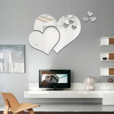 Cocotina 3D Mirror Love Hearts Wall Sticker Decal DIY Home Room Art Mural Decor Removable