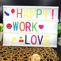 Cocotina Free Combination Cinematic Light Box with 90 Letters Symbols LED Light A4 Size - intl