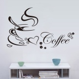 Cheap Coffee Cup 3D Three Dimensional Diy Wall Sticker Wall Decal Children Room Living Room Hall Murals Removable Home Decor Intl Online