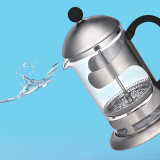 Great Deal Coffee Pot French Press Glass With Stainless Steel 800Ml Teacoffee Maker