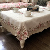 Low Price Coffee Table European Floral Living Room Home Fabric Chair Cover