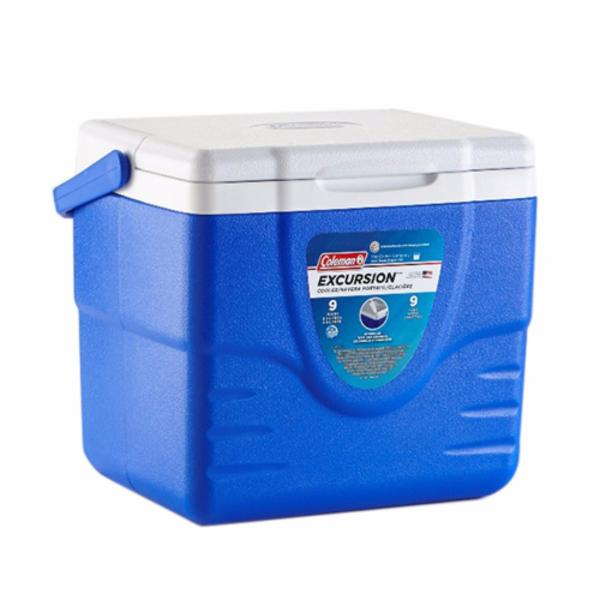 Coleman 9QT / 8L Excursion Hard Cooler Outdoor Picnic Camping Tough Coolers (Blue)
