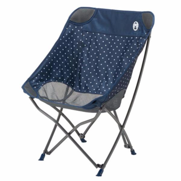 Coleman Healing Chair - Garden Beach Outdoor Portable Foldable Healing Chair (Navy Dot)