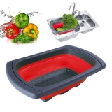 Where To Shop For Collapsible Colander Over The Sink Kitchen Strainer Foldable Colander Silicone Intl