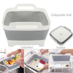 Price Comparisons Collapsible Sink Kitchen Foldable Storage Colander Strainer Caravan Boat Camping Intl