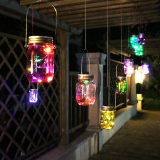 Coupon Color Changing Fairy Solar Light With Led Mason Garden Decor Intl