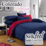 Low Cost Colorado Silkfeel Bedsheet Set C515 Navy Blue