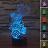 Colorful Changing Night Light Touch Switch 3D Led Lamp Teddy Bear Intl Price