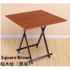 Colorful Folding Portable Foldable Table - Brown 70 X 74(h)cm By Wooolala
