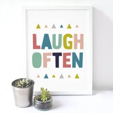 Colorful Life Quote Wall Art Print Poster, Wall Pictures For Home Decoration, Frame Not Include Canvas Art FA30 (Export)