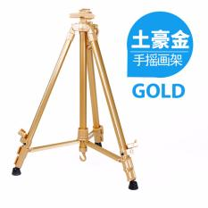 Colorful Portable Easel Aluminium Alloy Tripod Stand Gold Deal
