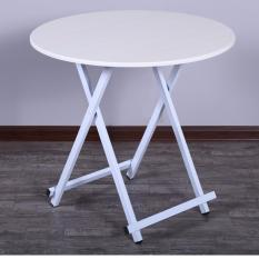 Colorful Round Folding Portable Foldable Table - White 58 x 54cm