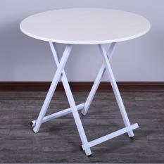 Review Colorful Round Folding Portable Foldable Table White 78 X 74Cm On Singapore