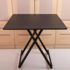 Colorful Square Folding Portable Foldable Table - Black 60 X 54(h)cm By Wooolala.