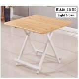 The Cheapest Colorful Square Folding Portable Foldable Table Light Brown 70 X 74 H Cm Online