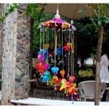 Best Rated Colorful Umbrella Wind Chime Ornaments Features Home Pendant Intl