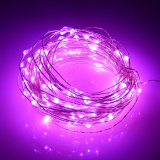 Best Offer Colors Light 20M 200 Leds Silver Wire Led String Christmas Lights 5 Modes Waterproof Battery Operated Holiday Lighting Pink