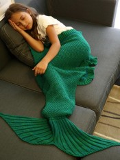 Comfortable Flounced Design Knitted Mermaid Tail Blanket Intl Not Specified Cheap On China