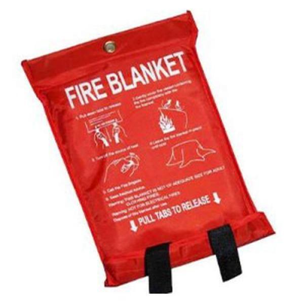 Common Quick Release 1.2m x 1.8m Fibreglass Fire Blanket [BS001]