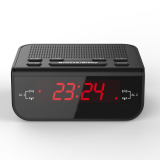 Wholesale Compact Digital Alarm Clock Fm Radio With Dual Alarm Buzzer Snooze Sleep Function Red Led Time Display Intl