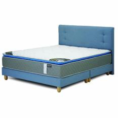 Lowest Price Contemporary Mintz Serene Fabric Queen Bed Frame