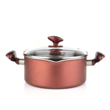 Buy Cooker King Yi Cai Double Bottom Non Stick Cook Soup Pot Does Not Rust Steel Electromagnetic Furnace Gas Universal 20 Cm Cooker King Online
