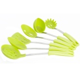 Wholesale Cooking Utensils 6 Pieces Stainless Steel And Silicone Cookingutensil Set With Holder Nonstick Kitchen Utensils Enjoy Today Intl