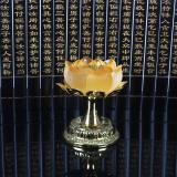 Coupon Azure Stone Lotus Flower Candlestick