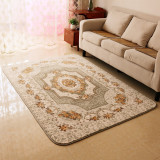 Buying Living Room Bedroom European Style Garden Mat Coral Velvet Rug