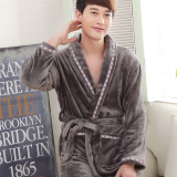 Coral Velvet New Style Men S Autumn And Winter Nightgown Coupon