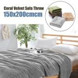 Promo Coral Velvet Super Soft Throws For Sofa Blanket Cover Bed Yoga Spread 150X200Cm Grey Intl