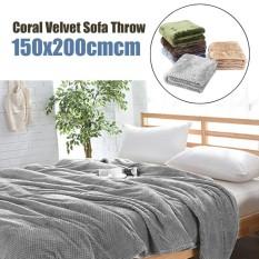 Coral Velvet Super Soft Throws For Sofa Blanket Cover Bed Yoga Spread 150X200Cm Grey Intl Shopping