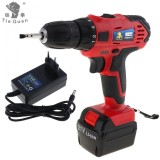 Discount Ac 110 220V Cordless 21V Electric Drill Screwdriver With Two Speed Adjustment Button For Handling Screws Punching China