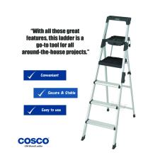 Cosco 4 Steps Black Aluminium Ladder In Stock
