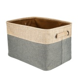 Cotton Jute Portable Foldable Organizer Boxes Big Canvas Storage Basket Bag For Baby Kids Toys Clothes Cars And Books Intl Sale