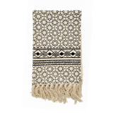 Sale Cotton Hand Woven Black And White Tone Carpet Tassel With Spike National Nordic Wind Mats Bed Blanket Cotton Towel China Cheap