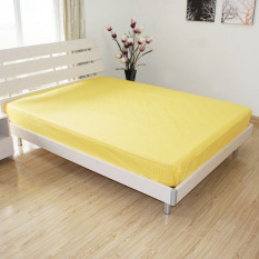 Discount Cotton Solid Color Satin Strip Fitted Bedsheet China