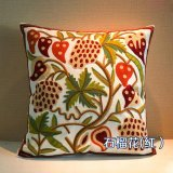 Sale Cotton Linen Embroidered Decorative Pillow Covers Pillowcase Sofa Car Cushion Cover Fashion Throw Pillows Covers With Filling 45X45Cm Intl
