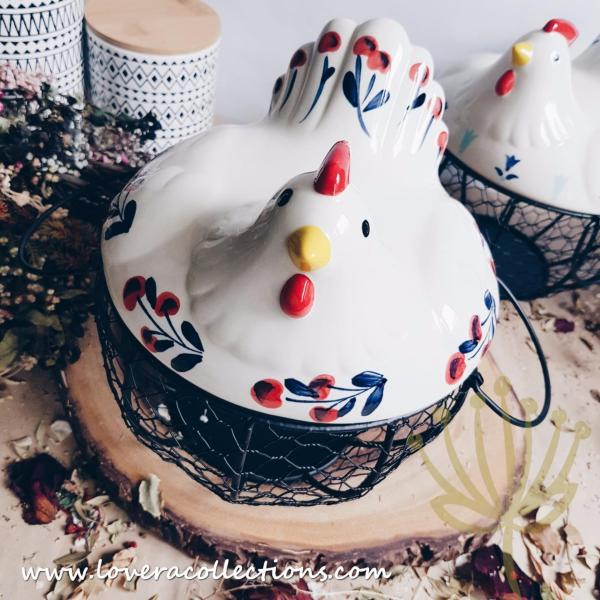 LOVERA Country Rooster Egg / Onion Basket
