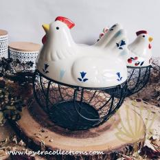 LOVERA Country Rooster Eggs / Onions Basket