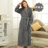 Court Flannel Female Long Coral Velvet Bathrobe Nightgown On China