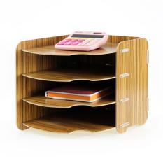 Sale Craftsman A4 A057 Wooden Desktop Office Storage Shelves File Rack China Cheap