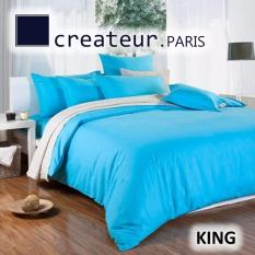Shop For Createur Paris Silkfeel King Bedsheet Set Cr521 Angel Blue
