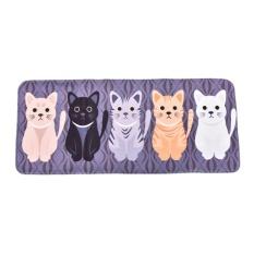 Creative Cartoon Cute Cat Print Door Bathroom Floor Bedroom Mat Entrance Mat Multicolor 50*120cm - intl