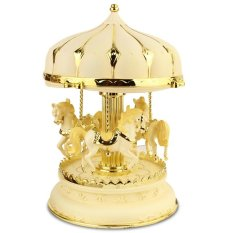Creative Girls Carousel Music Box Jewelry Box decoration of a room - plastic 7.8 inches with light