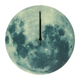Review Creative Glow In The Dark Luminous Moon Wall Clock Watch Home Living Room Decor Intl Oem On Singapore