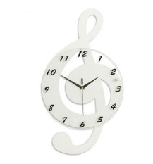 Best Rated Creative Led Clock Creative Note Wooden Electronic Wall Clock White Hot Sale Intl